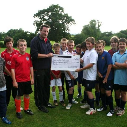 Donation to Wellington Youth Football