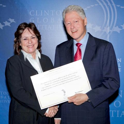 Fiona Darroch meets Bill Clinton