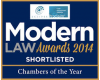 Modern Law Awards 2014 - Shortlisted for Chambers of the Year